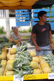 Pineapple Vendor at Saturday Morning Farmer's Market, Rohrmoser