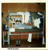 Dave VanHoogstrate in bunk - NKP 70