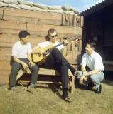 Gene Fret, center, with Bill Barragar on the right.  (1968-1969)