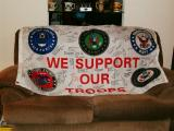 I bought this flag & had it signed by military of all branches who were or are currently stationed over in Iraq.