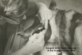 Teeth Cleaning At The Kennels  Sargent 4M59  Udorn 1969  2