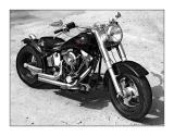 A black Harley.