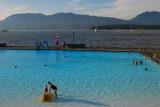 the salt water swimming pool.....