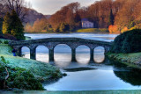Photographer and Turf Bridge, Stourhead