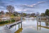 Moorings and harbour, Grand Bend