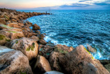 Rocky curve, West Bay