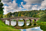 Turf bridge and clouds, Stourhead