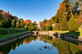 Pond and reflections, Mapperton, Dorset