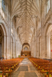 Chairs and nave, Winchester Cathedral