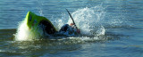 Stunt canoeist, West Bay (2354)