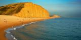Evening light on East Cliff, West Bay, Dorset