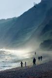 Beach and cliffs at Budleigh Salterton (2002)