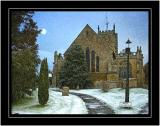 All Saints in the snow, Martock