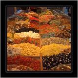 Sweets, market stall, Weymouth, Dorset