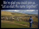 'We're glad you could join us' slide from the Abbotsbury series