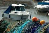 Nets and boats, Lyme Regis