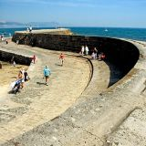The curving Cobb, Lyme Regis