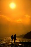 Sunset stroll along the Cobb, Lyme Regis (2015)