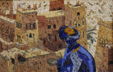 Homme bleu (50 x 60)