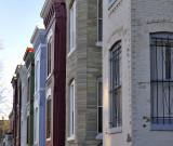 A row of row houses