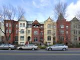Wide angle row houses