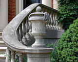 Dumbarton Oaks, staircase and urn