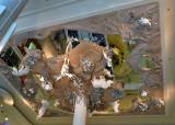Upside down shopping mall