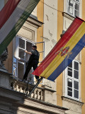 Precarious perch, municipal offices