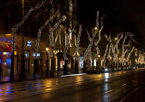 Festive street on Christmas