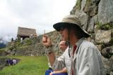 setting intention at Machu Picchu