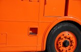 Orange truck.