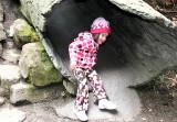Evie in the big log slide
