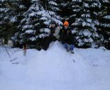 Nathan and Jake on top of their igloo.jpg