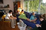 the 4 grompe sibs opening gifts