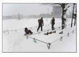 Snowy town # 4