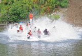 Hitting The Water After 225 ft Downhill Run