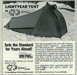 Snow Lion  Lightyear Tent  1977 Backpacker Magazine Ad.