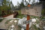Trailside Sign Near  Fish Creek Bridge