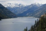 Mountain View Toward Stehekin With Boat On Return Trip