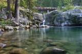 Pool Below Bridge Full Of Fish,,
