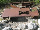 Metal From Mining Days Near Basin Creek