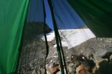 In Tent View Of Glacier