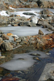 Cool September Ice In Melt Ponds Off Glacier