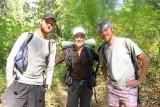 Three Happy Thru-Hikers On Pacific Crest Trail