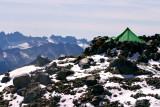 HIgh Camp On Edge Of Sahale Glacier ( 7,200ft. )