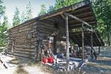 Old cabin  at head of Stehekin Valley