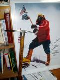 My   Jim Whittaker  signed poster and ice axe