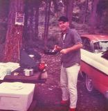 Dad cooking on his Coleman Two Burner ( 1964)
