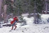Don Postholing Near Wrightwood