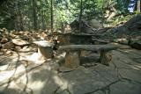 Rock Table and Chair  ( Ohme Gardens)